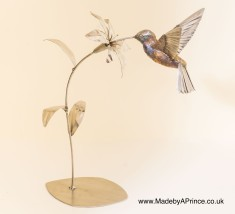 Humming Bird - Copper Bronze and Stainless Steel